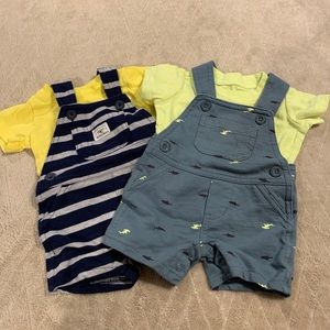 Set of carters overall outfits